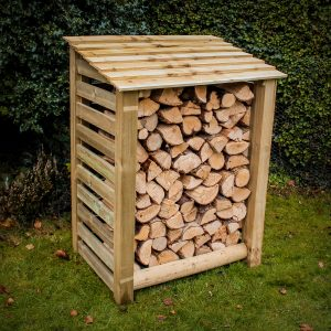Buy slatted log stores online from Berkshire Log Stores