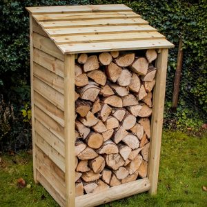 Small wooden log store by Berkshire Log Stores. Buy handmade small garden stores online