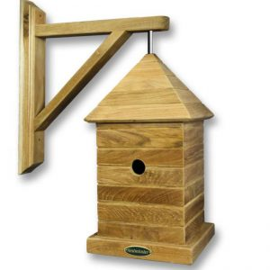 Premium wall hanging bird house made in teak by Berkshire Log Stores. Buy premium teak bird houses online