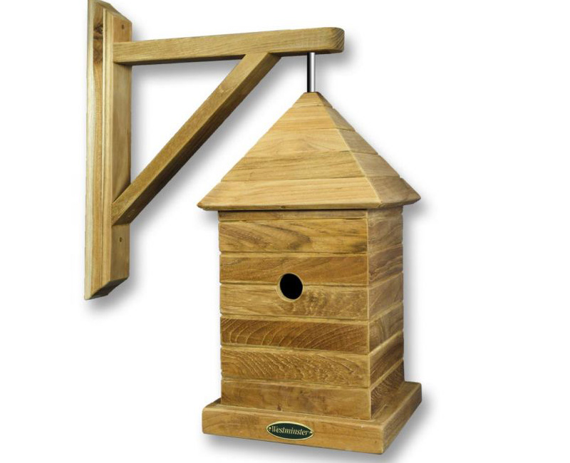 Hanging Bird House by Berkshire Log Stores