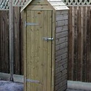 3ft wooden garden tool store and welly store sold by Berkshire Log Stores in UK. Buy handmade wooden tool sheds and welly stores online