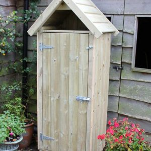 Sentry box small wooden garden shed by Berkshire Log Stores. Buy small wooden outdoor stores online