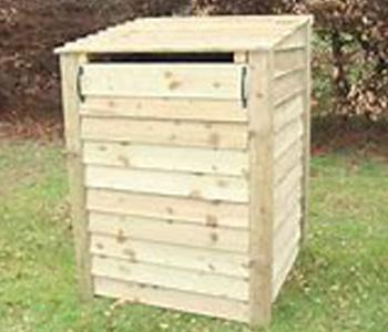 Wheelie bin storage with recycling storage